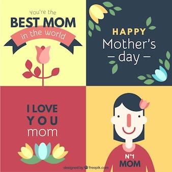 Cumprimentos do dia quatro bonita da mãe