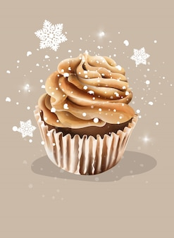 Cupcake com chantilly