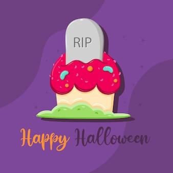 Cupcake com vetor grátis de halloween