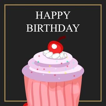 Cupcake de feliz aniversário