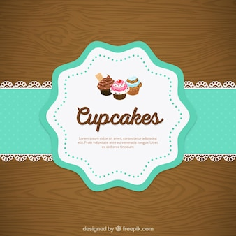 Cupcake doily rendas