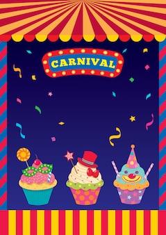 Cupcakes de carnaval