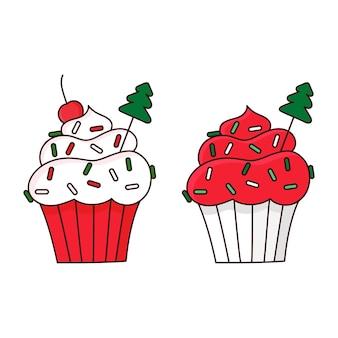 Cupcakes de feliz natal