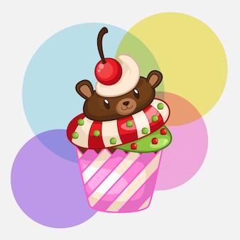 Cupcakes de urso fofo