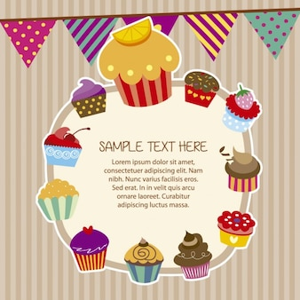 Cupcakes quadro no estilo colorido