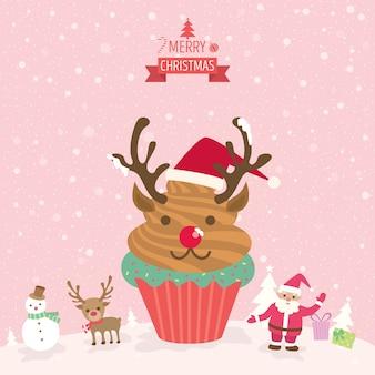 Cupcakes renas chirstmas