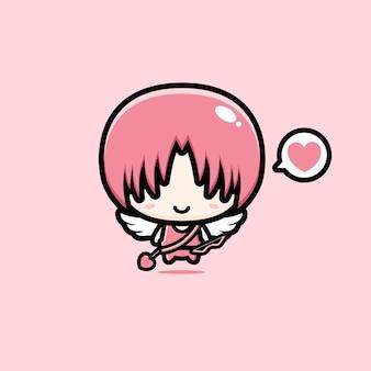 Cupido bonito mascote vector design