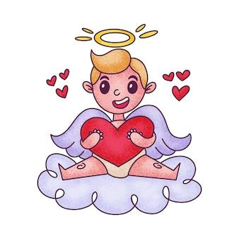 Cupido de bebê fofo dos desenhos animados. excelente design para o seu produto.