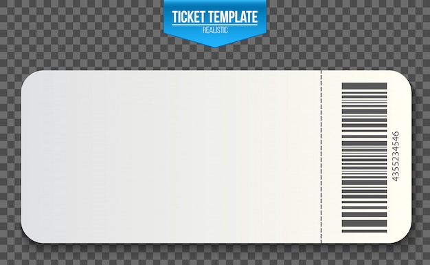 Cupons de convite de modelo de bilhete vazio.