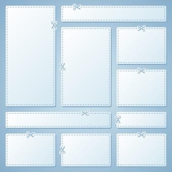 Cupons de publicidade em branco em branco