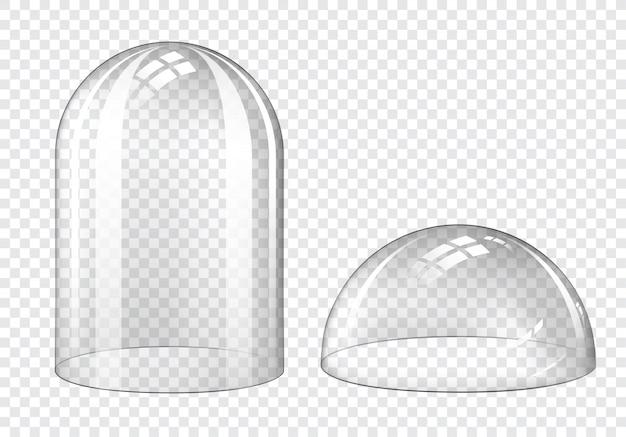 Cúpulas de vidro vazias