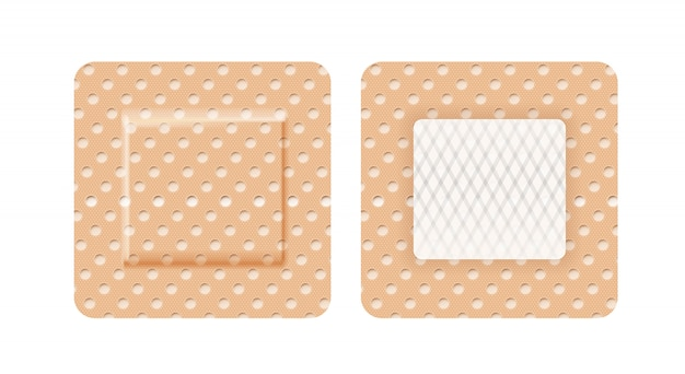 Curativo em forma de quadrado