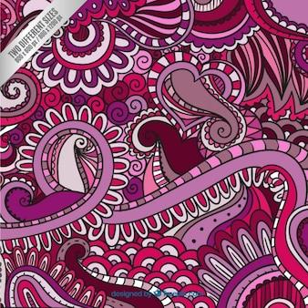 Curls fundo em tons de rosa
