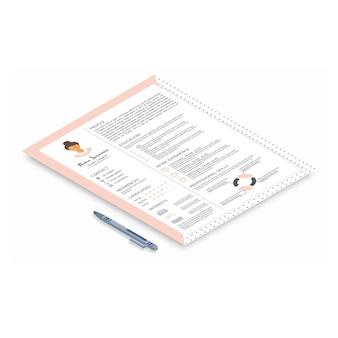 Currículo com design infográfico