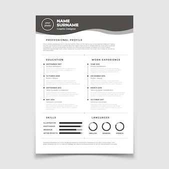Currículo cv. documento para entrevista de emprego.