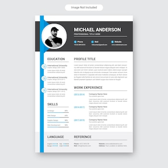Currículo mínimo moderno ou modelo de perfil de currículo