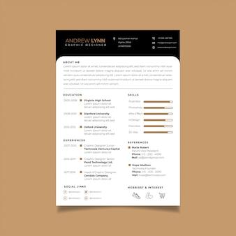 Currículo modelo de design minimalista cv