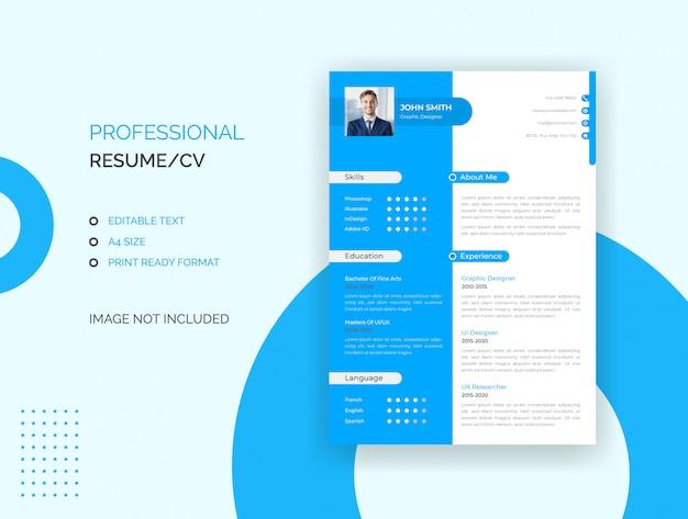 Currículo profissional, modelo cv