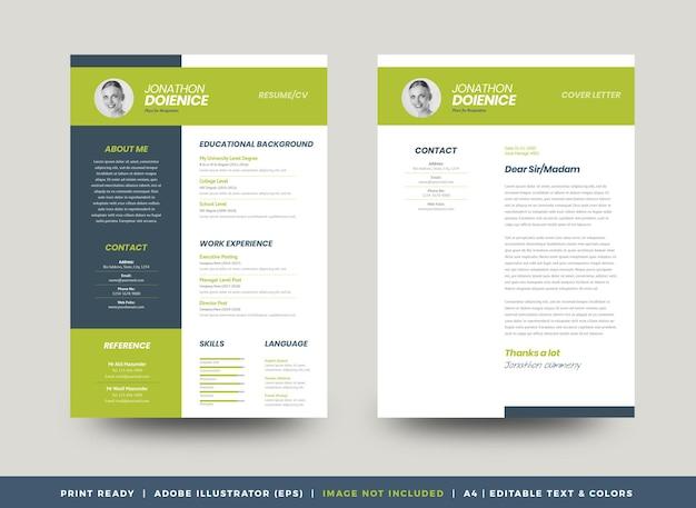 Curriculum vitae cv currículo modelo de design ou detalhes pessoais para candidatura a emprego