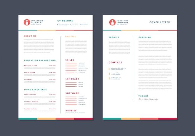 Curriculum vitae cv design de modelo de currículo | detalhes pessoais para solicitação de emprego