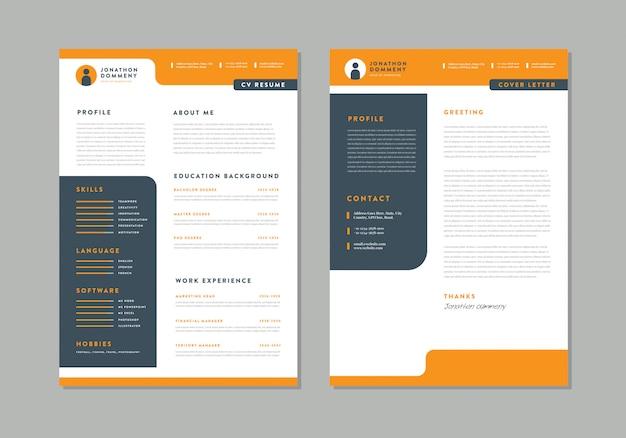 Curriculum vitae cv design de modelo de currículo