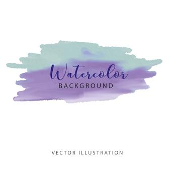 Curso de aquarela violeta de matiz azul