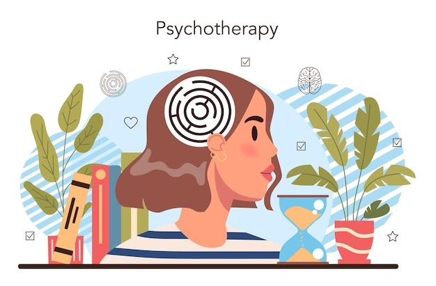 Curso escolar de psicologia. consulta de psicólogo escolar. mental