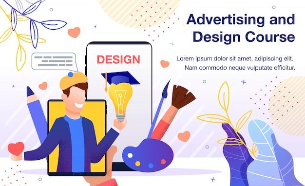 Curso online de design gráfico plano