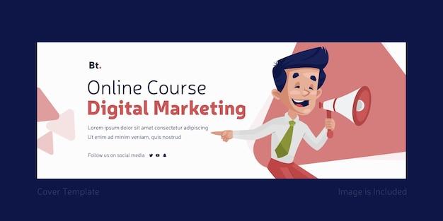 Curso online marketing digital design da capa do facebook