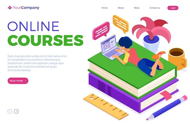 Cursos de educação online ou exame à distância de casa