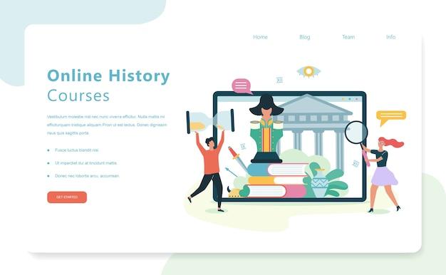 Cursos de história online, matéria escolar. ideia de ciência