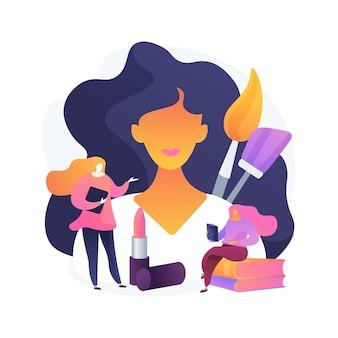 Cursos de maquiagem profissional. workshop de salão de beleza, tutorial de rosto, aula de cosmetologia. maquiador ensinando trainee, estudante de consultoria.