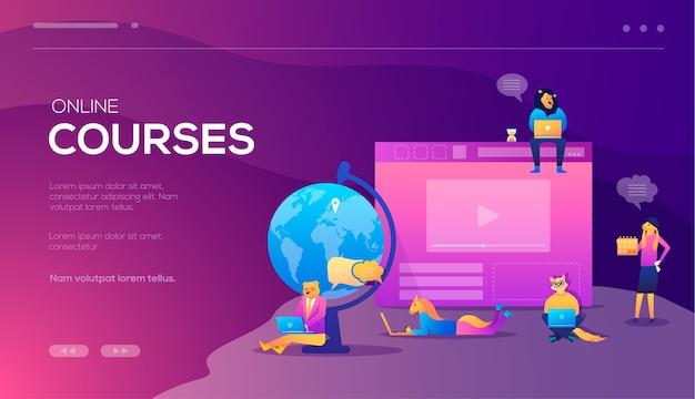 Cursos de treinamento online, reciclagem, especialização, tutoriais. pode ser usado para promoção na web.