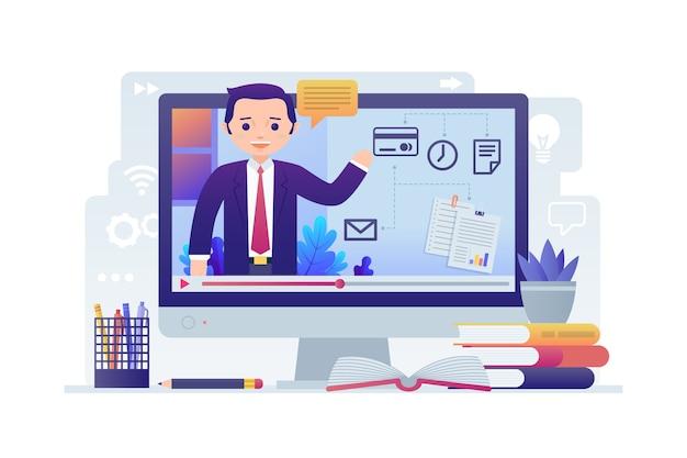 Cursos on-line no computador