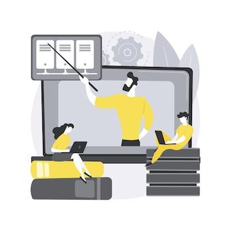 Cursos online de big data. curso de big data, programa de graduação online, educação digital, programação de estudos, certificação de desenvolvedor a distância. Vetor Premium