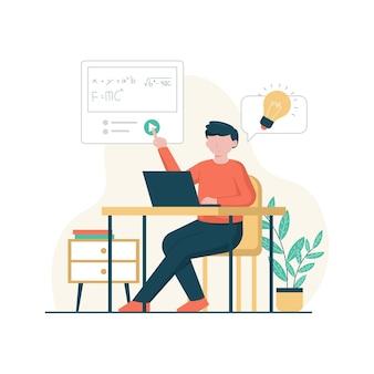 Cursos online de design plano e ilustração tutorial
