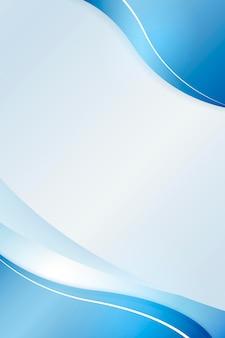 Curva de azul ombre em um vetor de fundo azul claro
