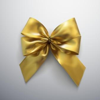 Curva e fitas douradas.