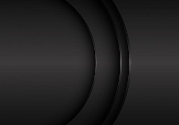 Curva preta do metal com fundo do espaço vazio.