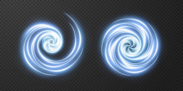 Curva realista clara. efeito de brilho de néon cintilante.