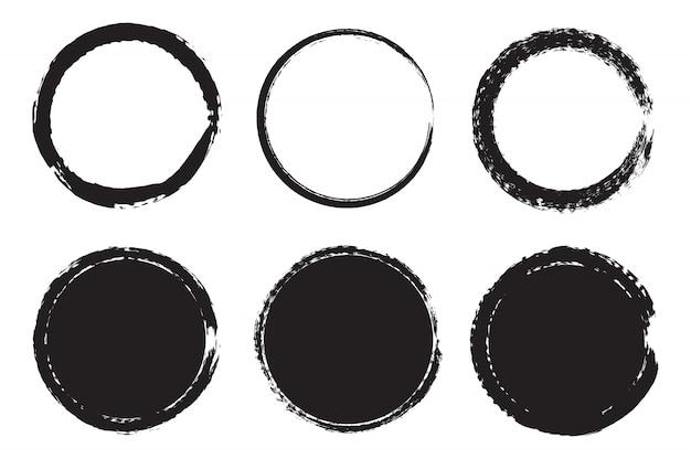 Curvas de grunge preto