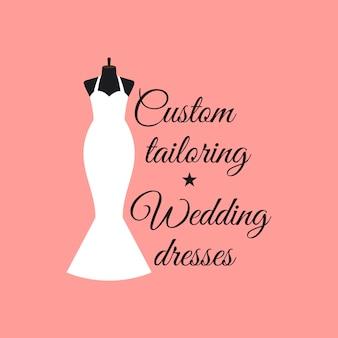 Custom costurando vestidos de noiva logo
