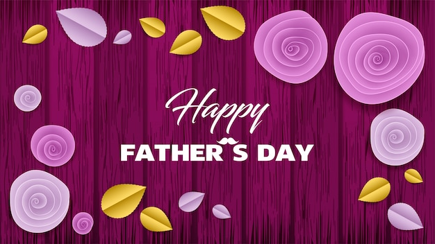 Cut paper floral banner dia dos pais