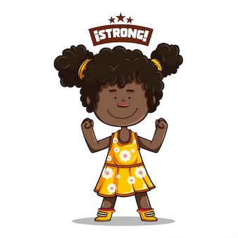 Cute afro girl smiling