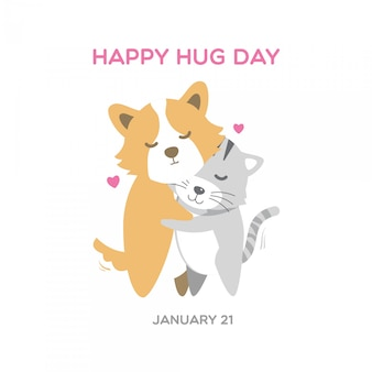 Cute, corgi, cão, e, gato