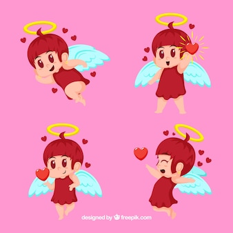 Cute cupid character collection
