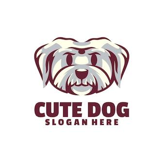 Cute dog logo é baseado em vetor. eles são totalmente editáveis e escalonáveis sem perder resolução.