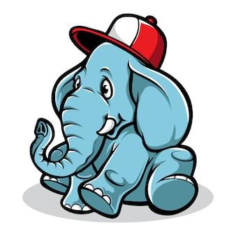 Cute, elefante, caricatura