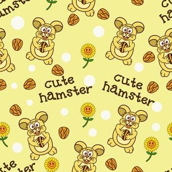Cute hamster pattern background