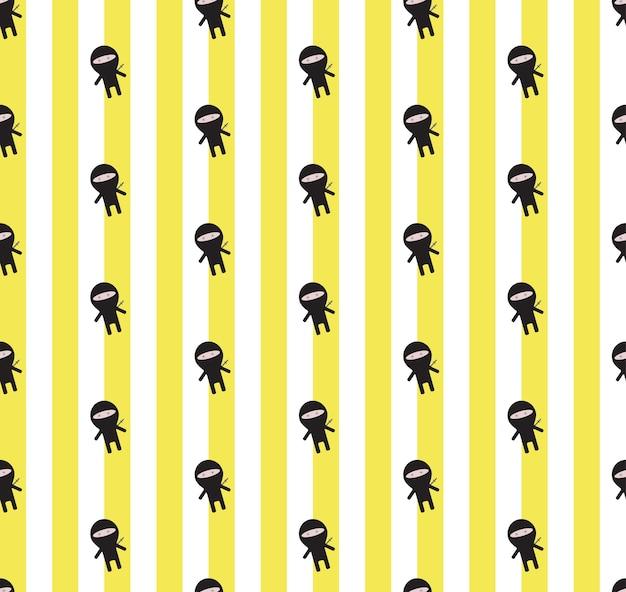 Cute ninja pattern